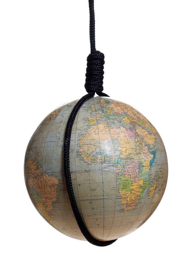 Глобус с черным gibbet стоковая фотография