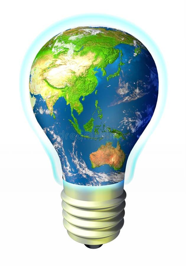 глобус энергии Азии Австралии иллюстрация вектора