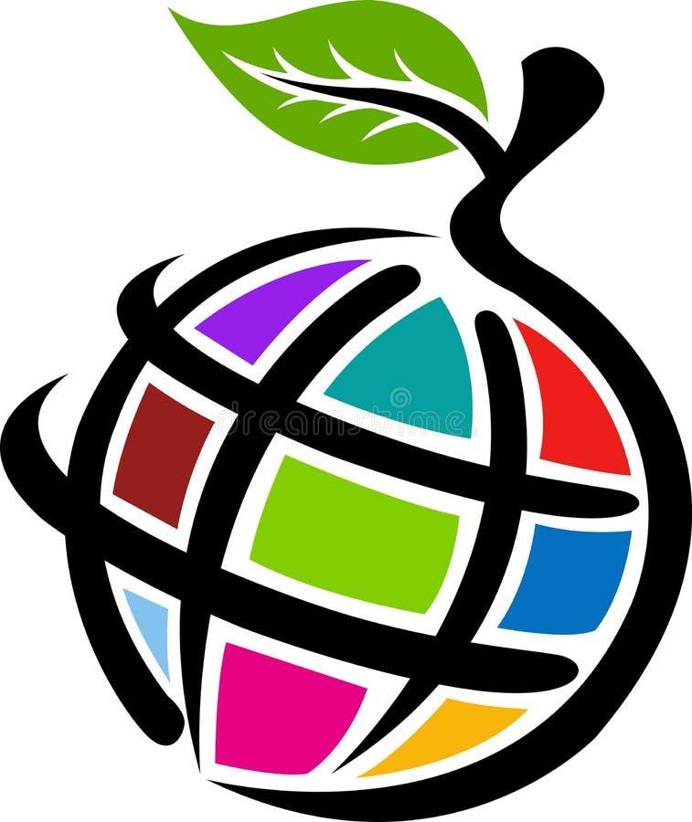 глобус яблока иллюстрация штока