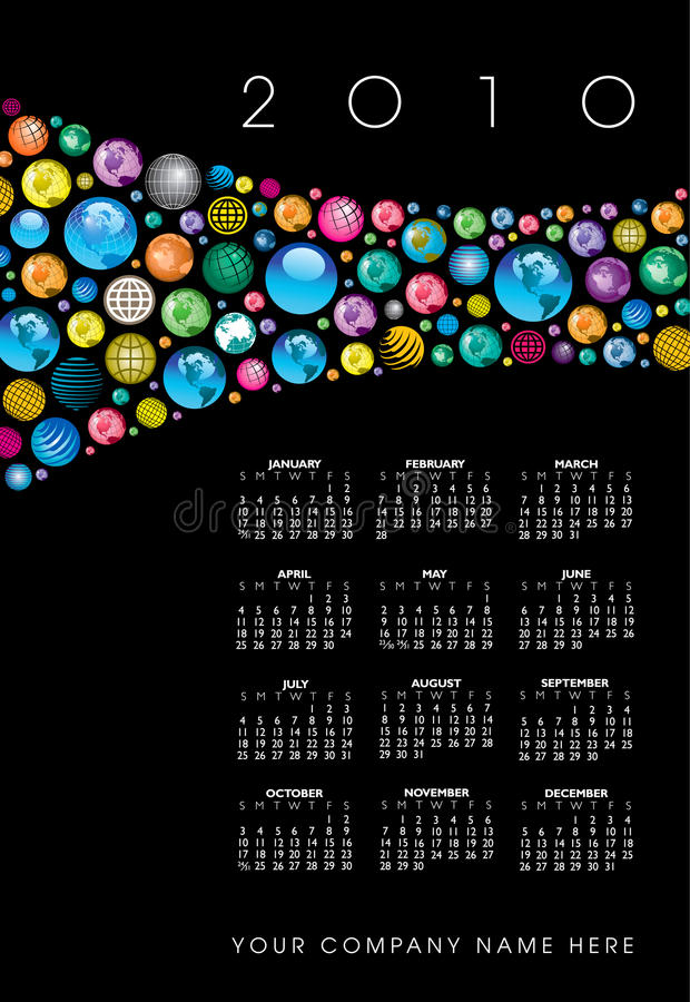 глобус 2010 календаров бесплатная иллюстрация