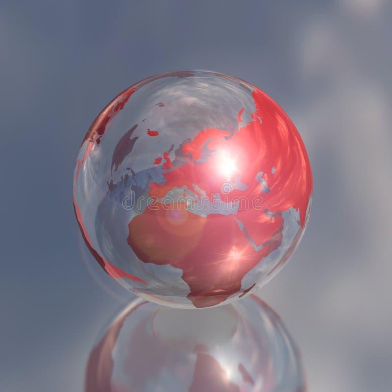 глобус 3d Африки кристаллический европы бесплатная иллюстрация
