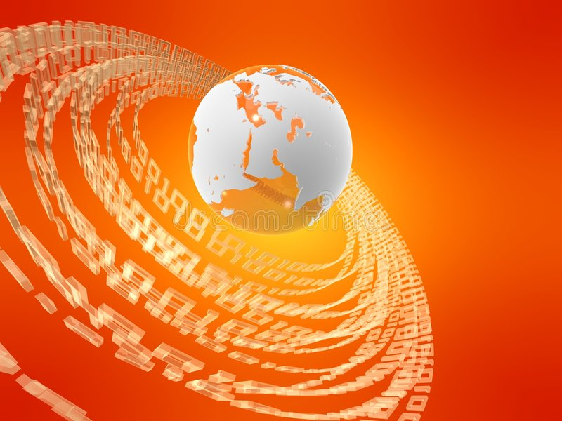 глобус 3d иллюстрация штока