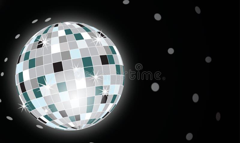 глобус discotheque иллюстрация штока