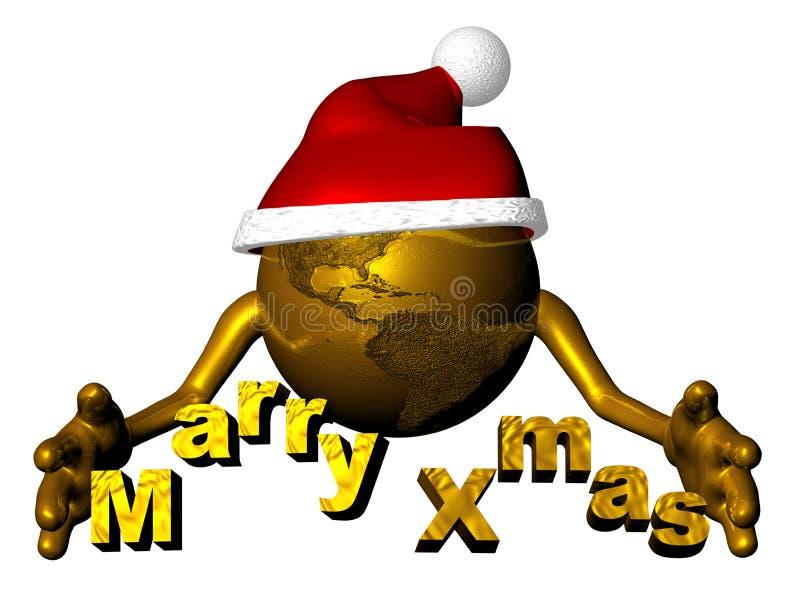 глобус santa claus бесплатная иллюстрация