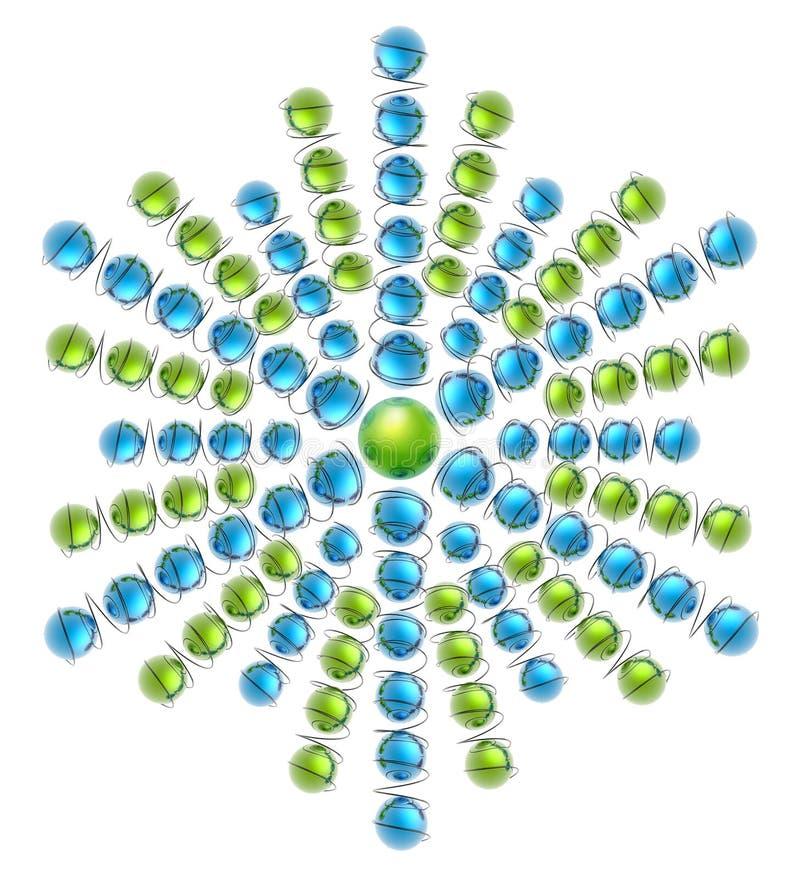Глобус Snowflake_1 стоковые фото