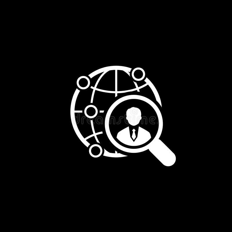 гловальная икона Плоский дизайн иллюстрация штока