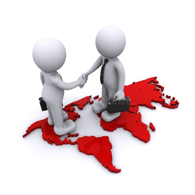 Гловальная принципиальная схема партнерства бесплатная иллюстрация