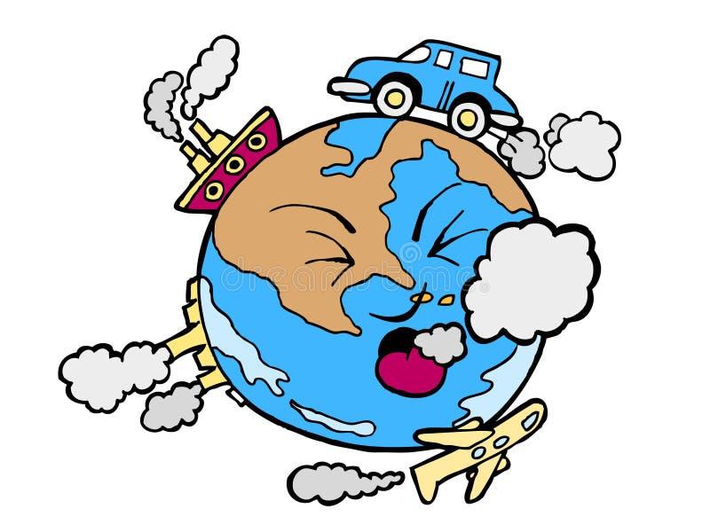 гловальное загрязнение иллюстрация штока