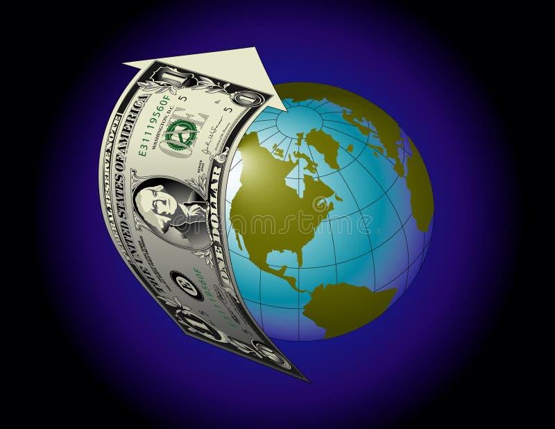 гловальное предпосылки финансовохозяйственное иллюстрация вектора