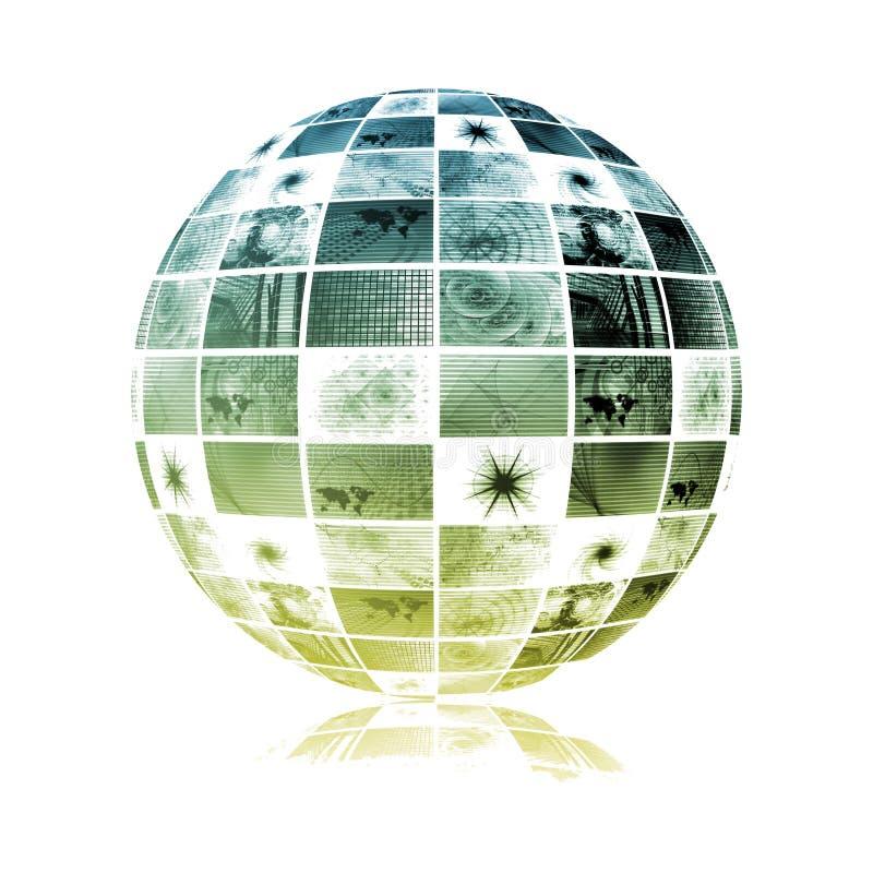 гловальные радиосвязи сети индустрии иллюстрация вектора