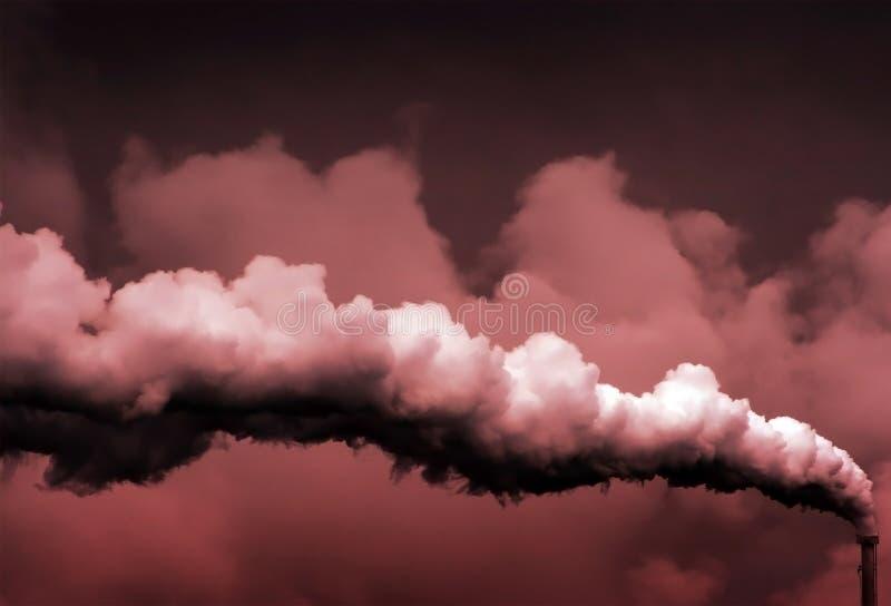 гловальный греть загрязнения стоковое изображение