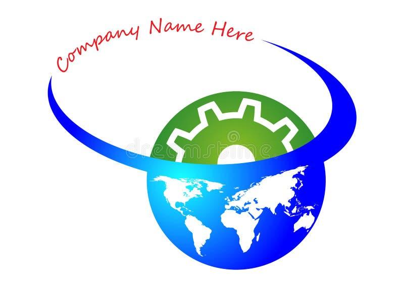 гловальный логос индустрии иллюстрация вектора