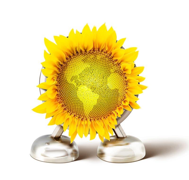 гловальный солнцецвет иллюстрация штока