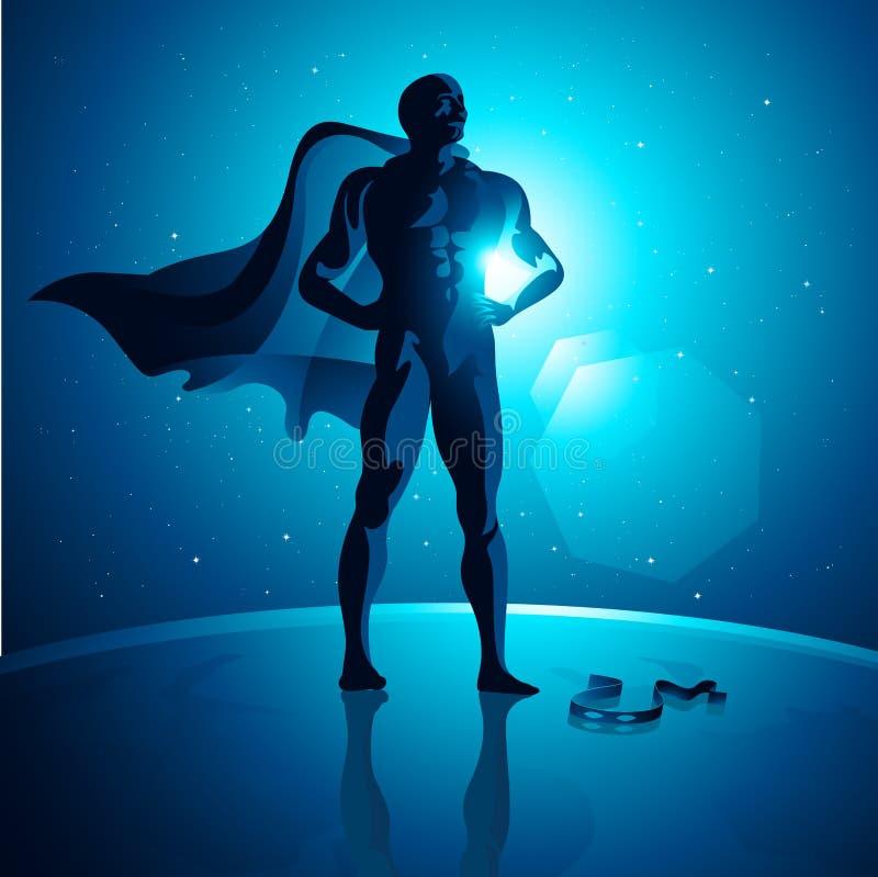 гловальный супергерой иллюстрация вектора