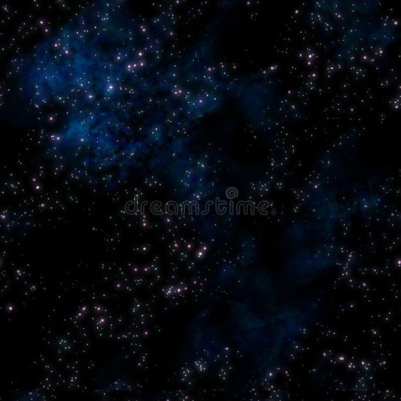 глубокие звезды космического пространства иллюстрация вектора