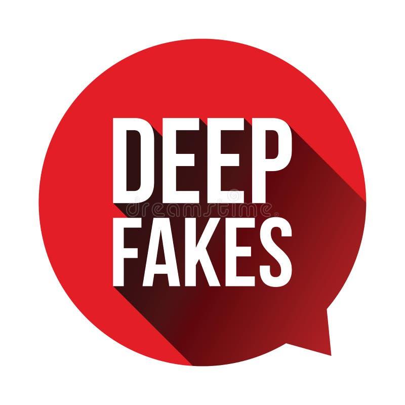 Глубокие фальшивки подписывают пузырь речи бесплатная иллюстрация