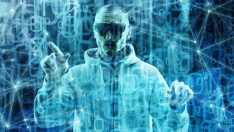 Глубокий алгоритм цифровой технологии машинного обучения нервной системы, предпосылка треугольников абстрактная, много прозрачных бесплатная иллюстрация