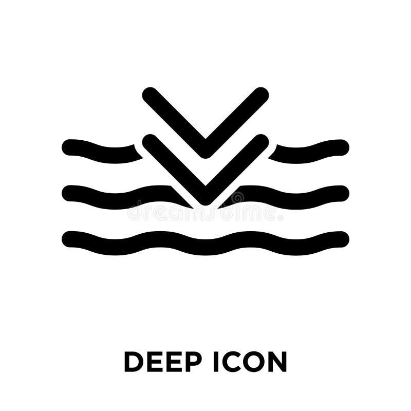 Глубокий вектор значка изолированный на белой предпосылке, концепции логотипа d бесплатная иллюстрация