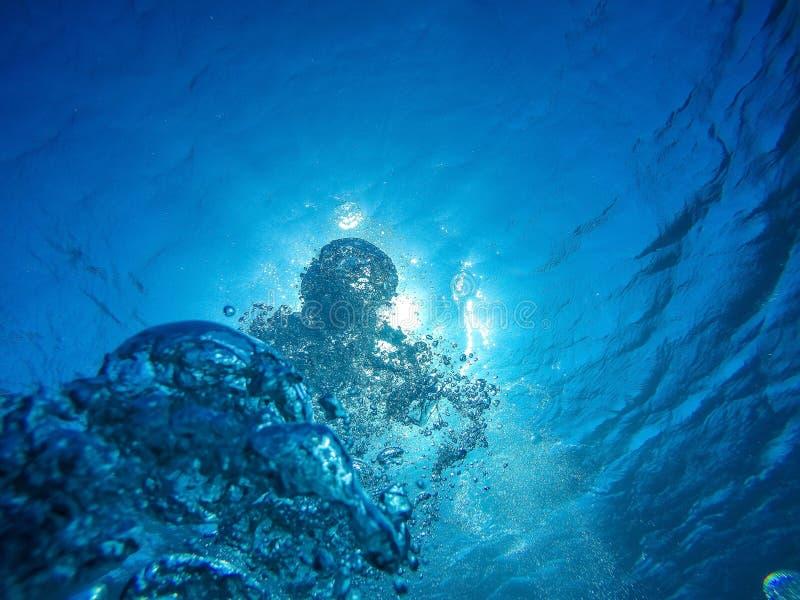 Глубокий воздух, взгляд от глубины стоковая фотография