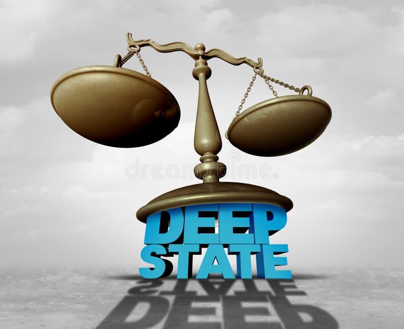 Глубокий государственный закон бесплатная иллюстрация