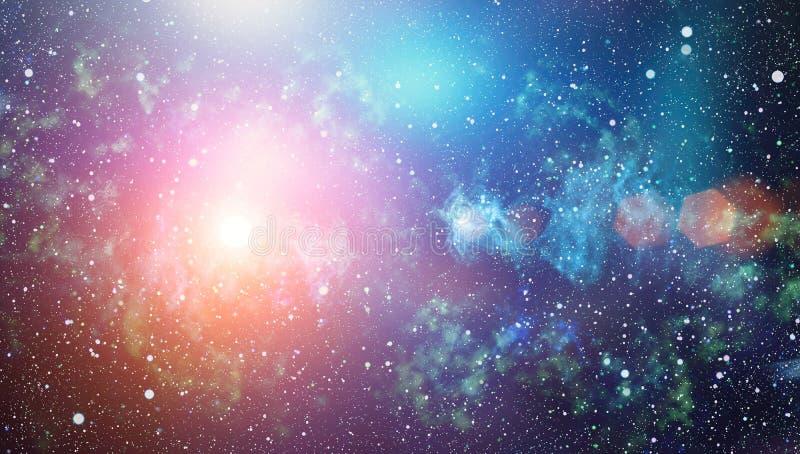 Глубокий космос Высокая предпосылка поля звезды определения Звёздная текстура предпосылки космического пространства Красочное кос стоковое изображение
