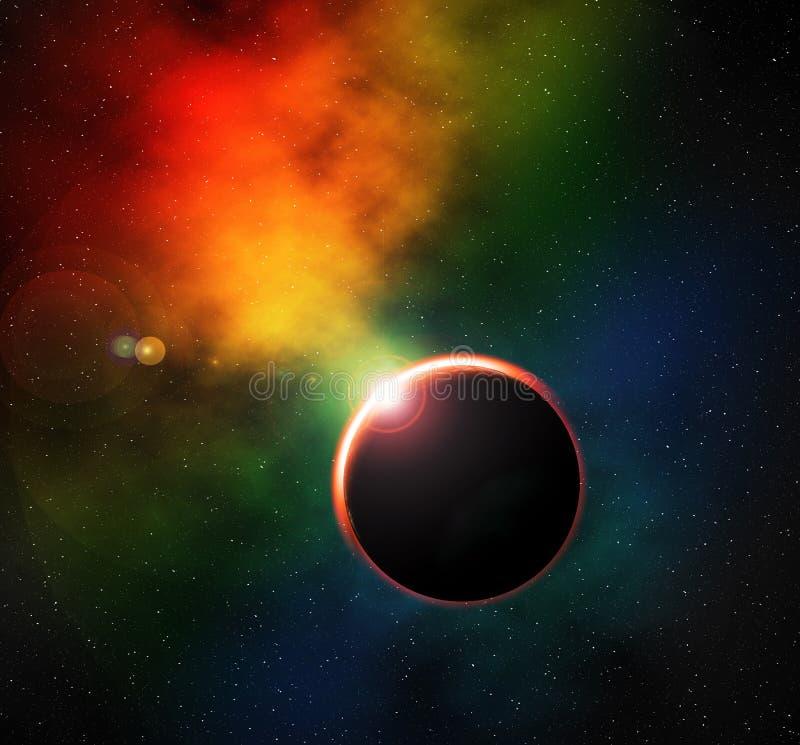 глубокий космос иллюстрация вектора