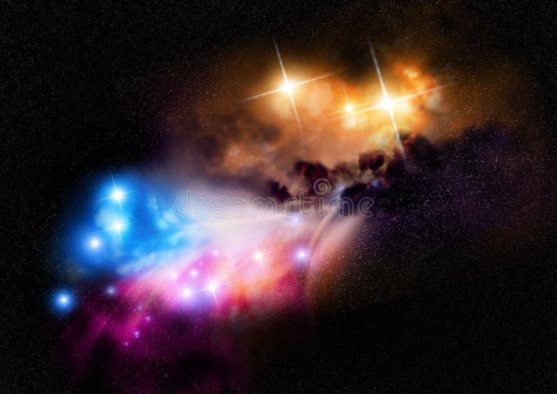 глубокий космос nebula стоковые фото