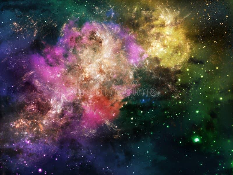 глубокий космос nebula иллюстрация штока