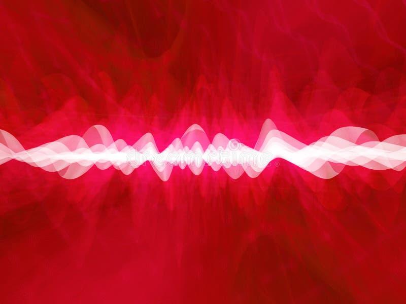 глубокий красный цвет искажения иллюстрация штока