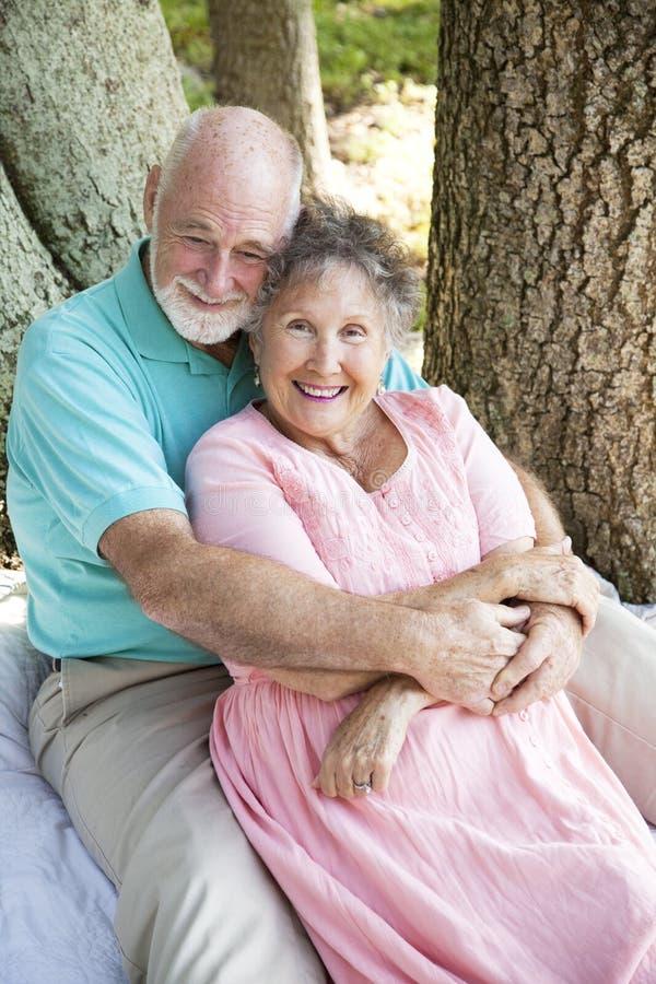 глубоки старшии влюбленности стоковые фото