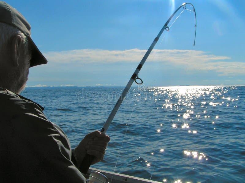 глубокое море рыболовства стоковая фотография