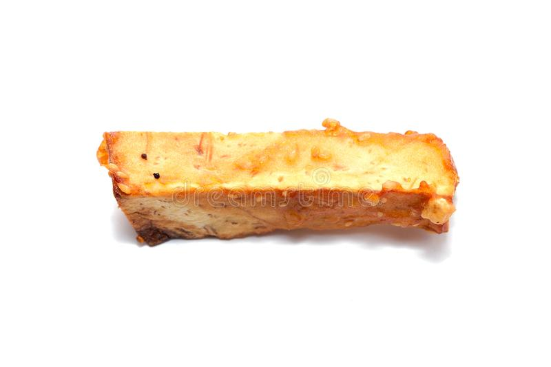 Глубоко зажаренное отрезанное таро стоковое изображение rf