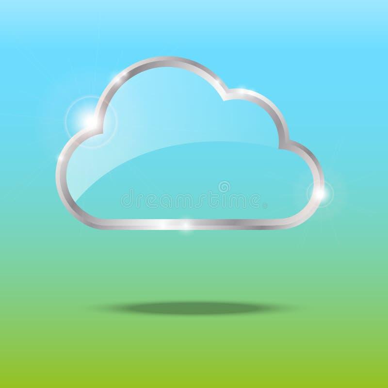Глянцеватое облако иллюстрация вектора