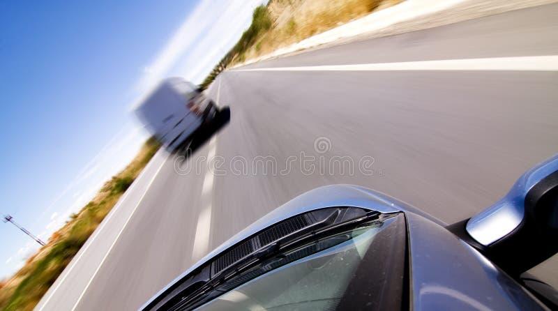 гнать фургон стоковое изображение rf