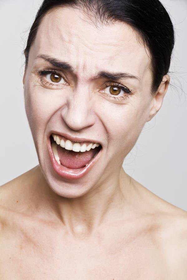 Гнев женщины стоковое изображение