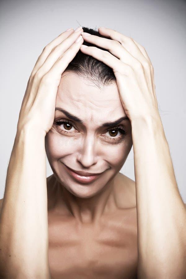 Гнев женщины стоковое фото rf