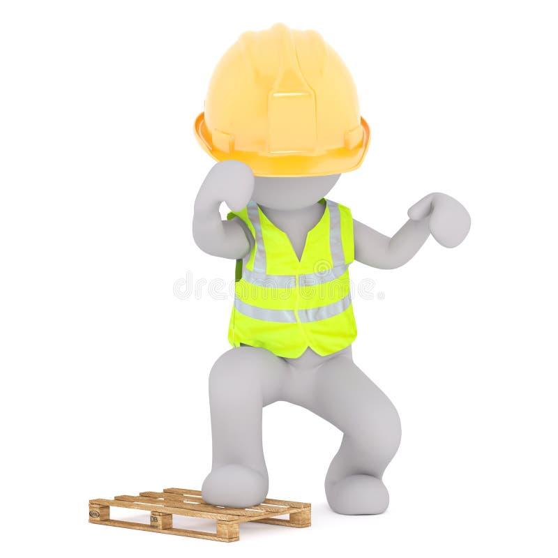 Гнев рабочий-строителя бесплатная иллюстрация
