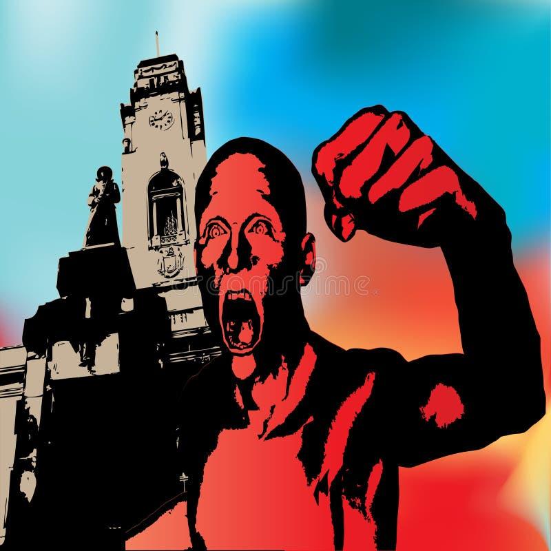 гнев урбанский иллюстрация вектора