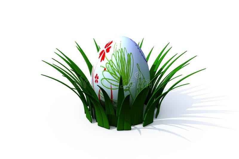 гнездй пасхального яйца иллюстрация штока