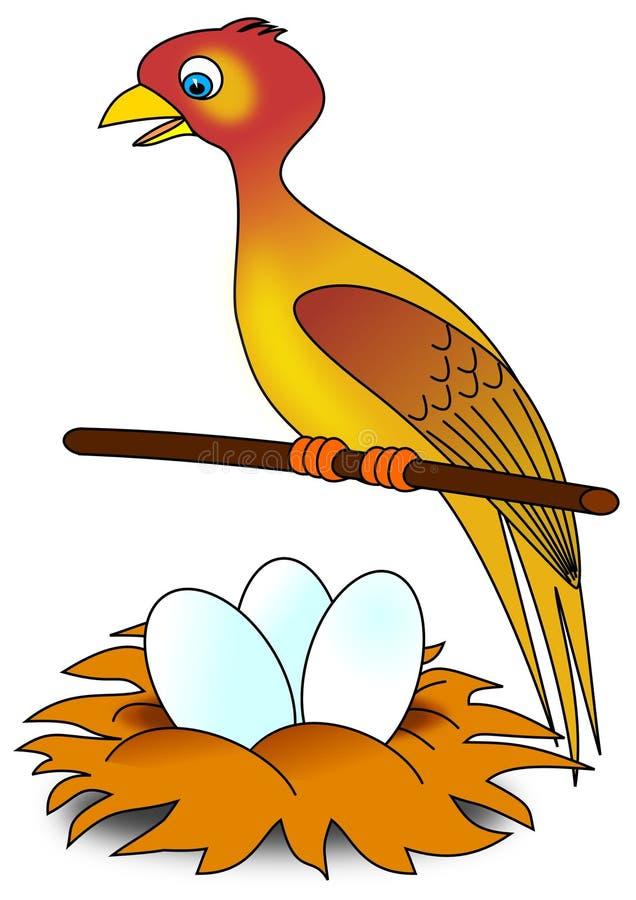 гнездй птицы бесплатная иллюстрация