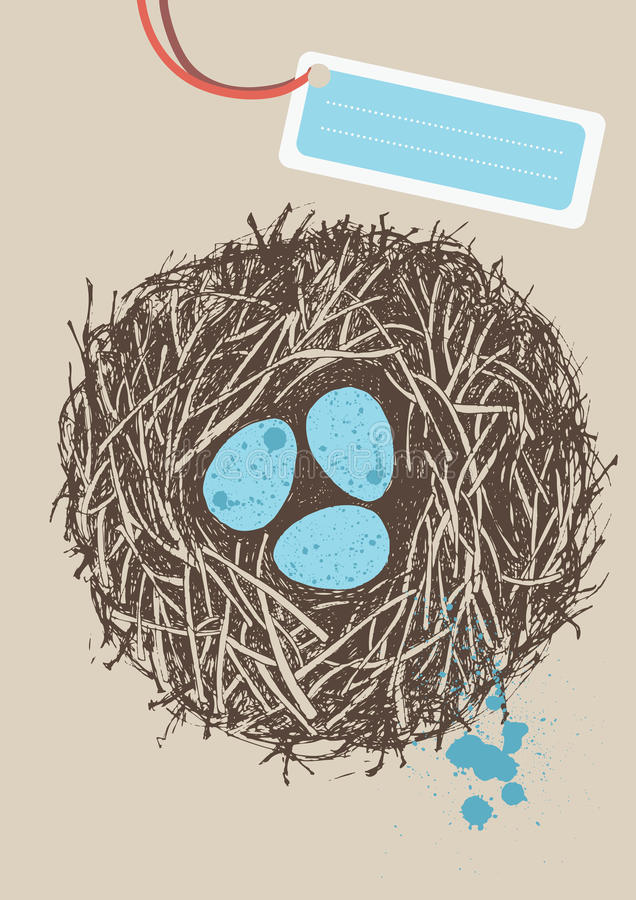 гнездй яичек бесплатная иллюстрация