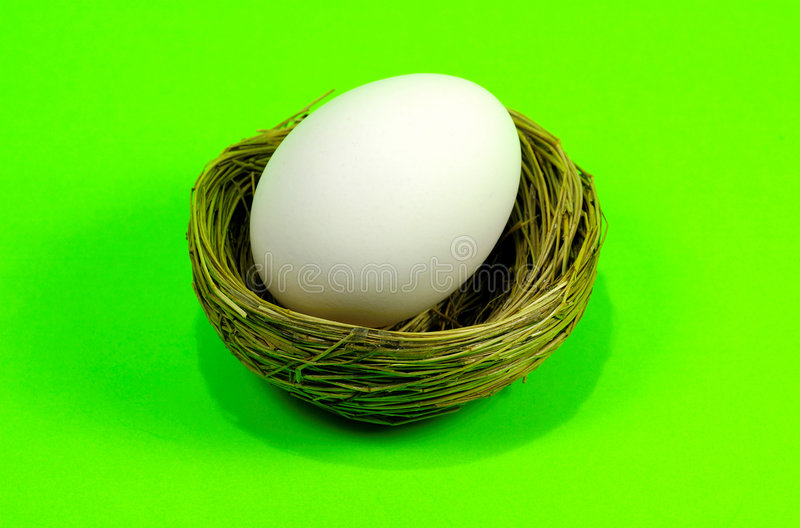 гнездй 2 яичек стоковое изображение rf
