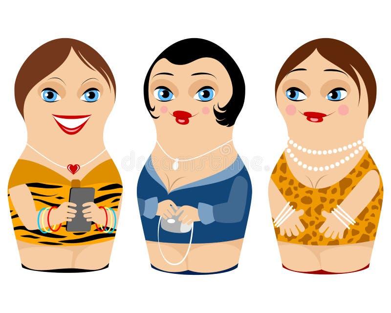 3 гнездились кукла бесплатная иллюстрация