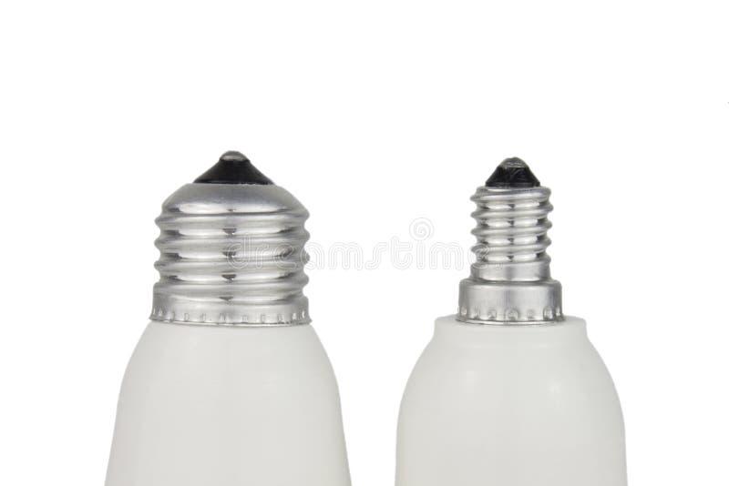 Гнездо лампы E27 и E14 на белой предпосылке стоковые фотографии rf