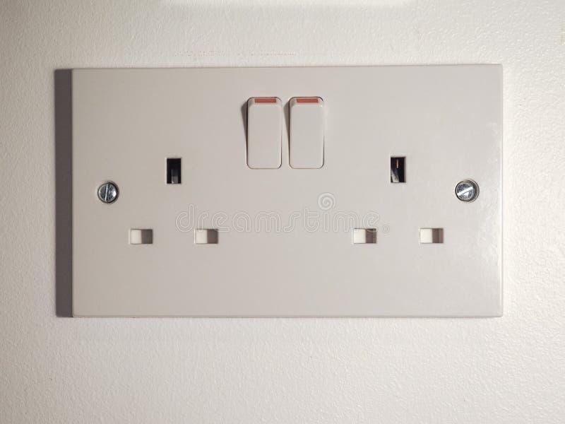 Гнездо Великобритании электрическое стоковое изображение
