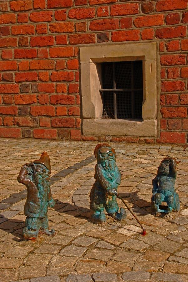 Гном в Wroclaw стоковое изображение