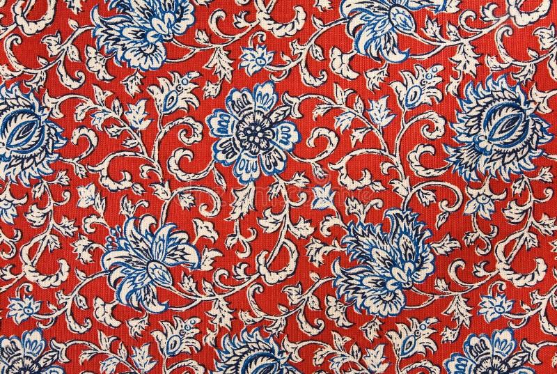 гобелен цветастой хлопко-бумажная ткани предпосылки флористический стоковое фото rf