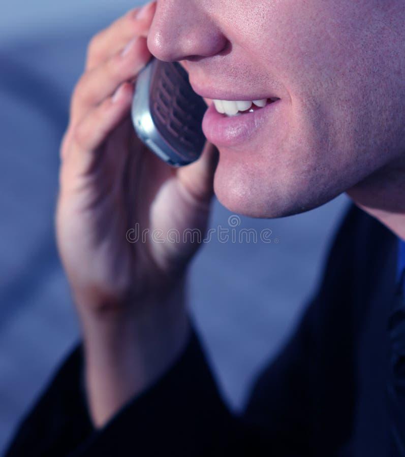 говорить бизнесмена стоковая фотография rf