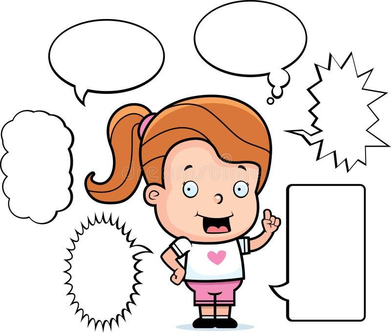 говорить девушки бесплатная иллюстрация
