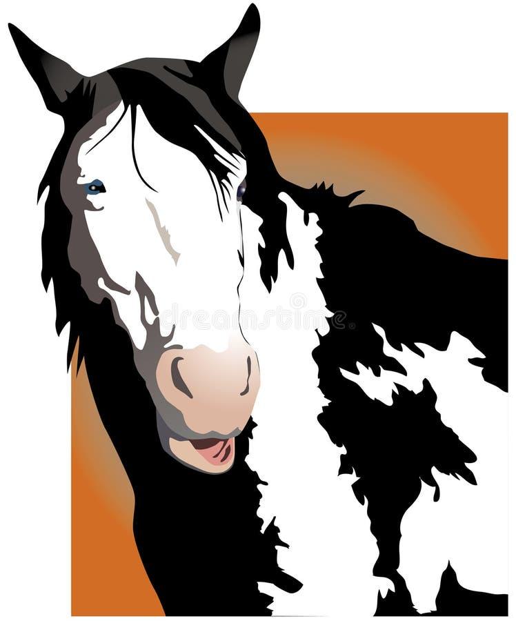 говорить лошади иллюстрация вектора